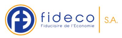 Logo Fideco, Fiduciaire de l'Economie