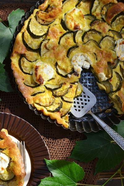 zucchini and goat cheese pie