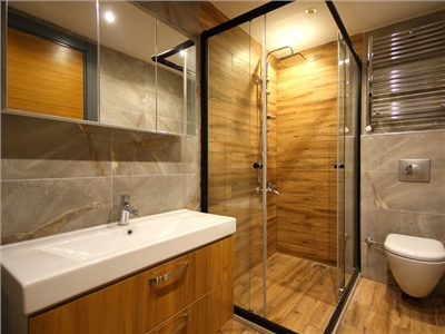 Salle de bains sans baignoire
