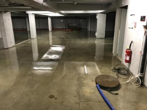 Nettoyage après inondation
