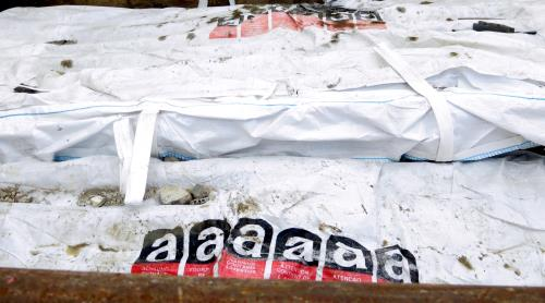 Traitement de déchet amiante cimentée