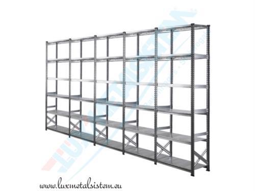 Rayonnage métallique en acier galvanisé