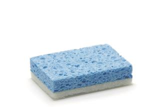 Éponge à récurer cellulose 14x9 cm  bleue/blanche