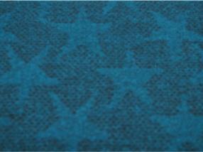 Polyacryl  Tissu blau/Sterne