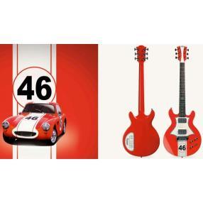 Guitare éléctrique LAG ROXANE RACING BEDARIEUX 1500 RED