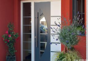 Portes d'entrée en bois, bois-aluminium ...