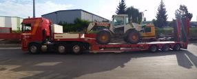 Transport et camion grue