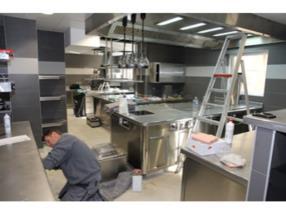 Installation de grande cuisine