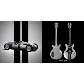 Guitare éléctrique - LAG ROXANE RACING BEDARIEUX 1500 METALLIC GREY