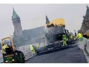 Mise en oeuvre d'enrobés (asphalte)