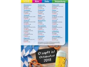 TARIF OKTOBERFEST 2018