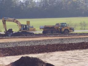 Terrassement et construction de décharges