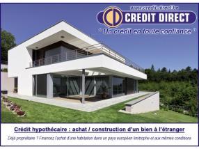 Crédit hypothécaire achat à l'étranger