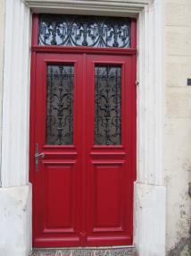 Porte d'entrée en bois, bois-aluminium,aluminium
