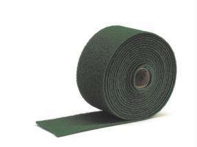 Tampon abrasif en rouleau 10 m x 17 cm vert
