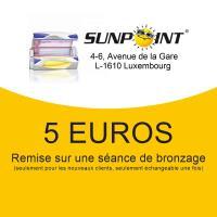 5 EUROS de réduction sur bronzage pour les nouveaux clients