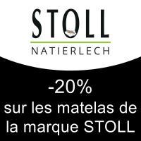 -20% sur les matelas de la marque STOLL